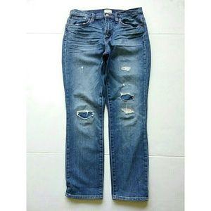 J. Crew Jeans - J Crew Slim Broken In Boyfriend Destroyed Jeans